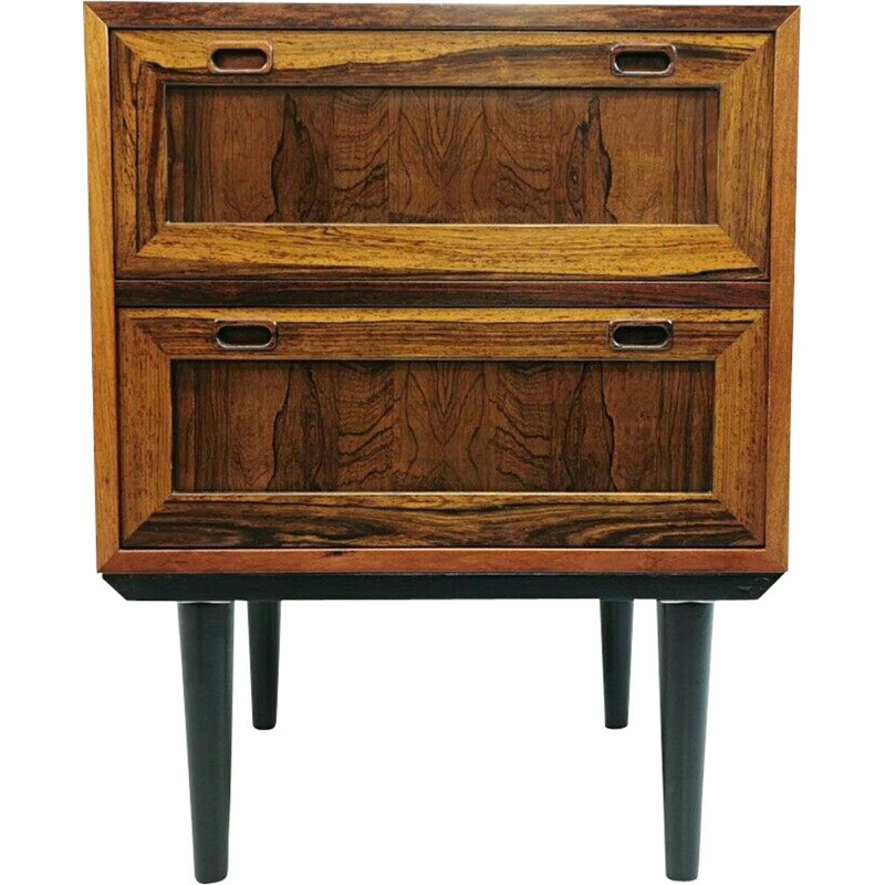 Vintage Danish Rosewood Chest of Two Drawers 60s 70s Mid Century Vintage