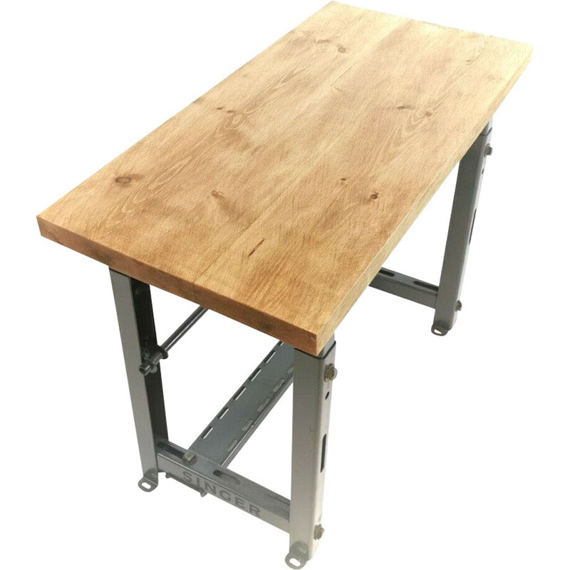Vintage Industrial Engineers Machinists Desk Table - Singer Manufacturing company, 50'
