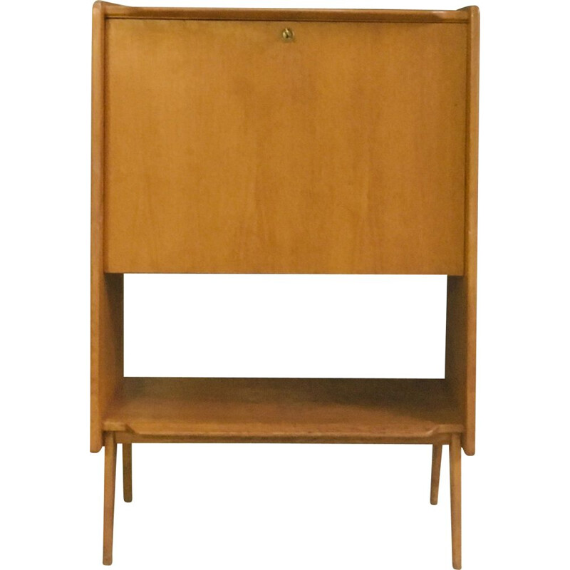 Vintage Dakar writing desk for ABC in solid oak 1950