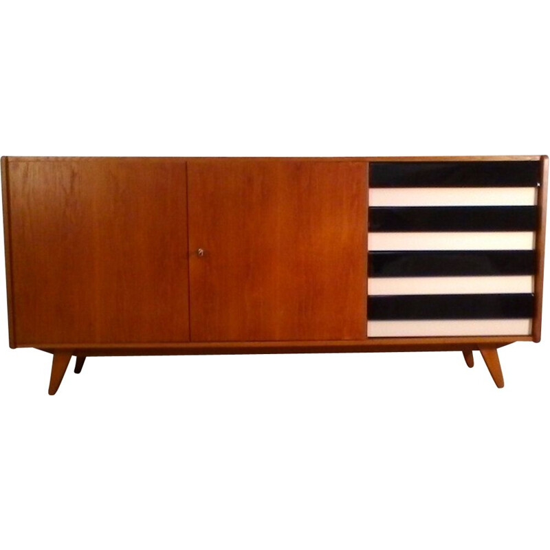 Vintage sideboard by Jiří Jiroutek in oak and plastic 1960s