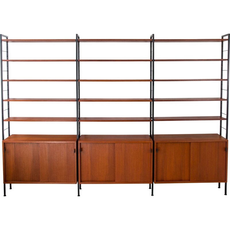 Vintage bookcase model 03 for Knoll International in teak and steel 1960s