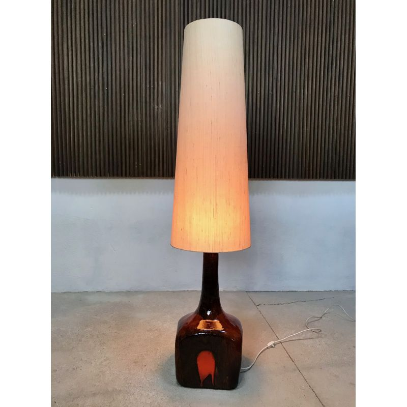 Vintage Floor Lamp Ceramic with