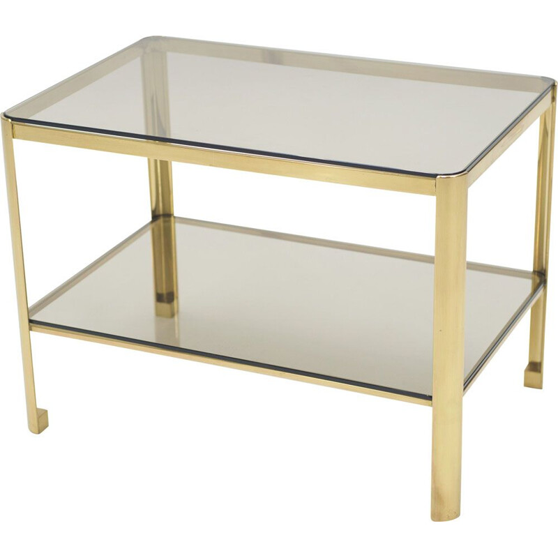 Vintage table by Jacques Quinet for Broncz in bronze 1960