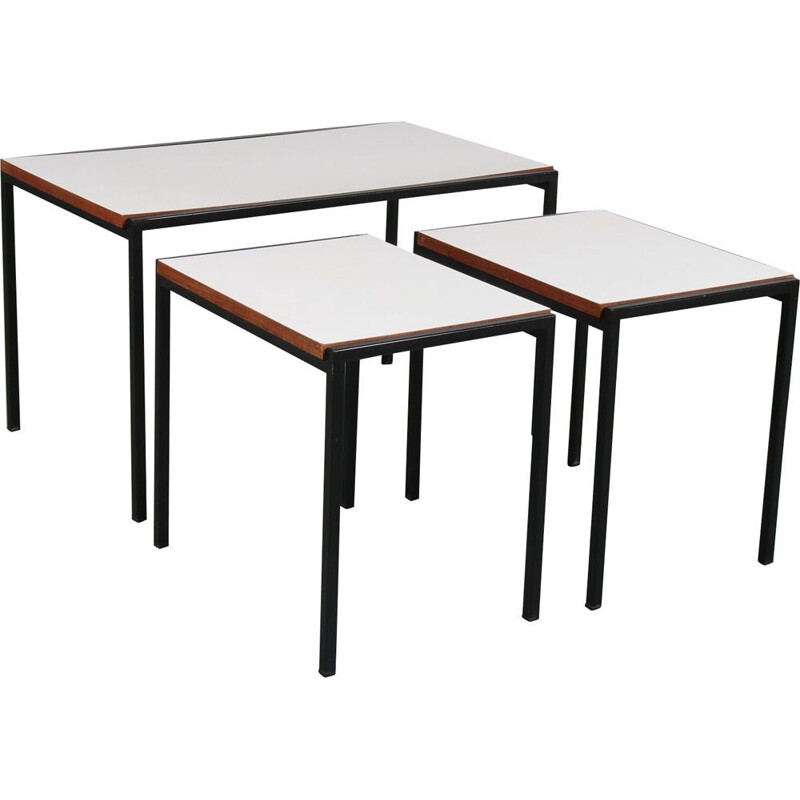 Vintage nesting tables by Cees Braakman for Pastoe the Netherlands