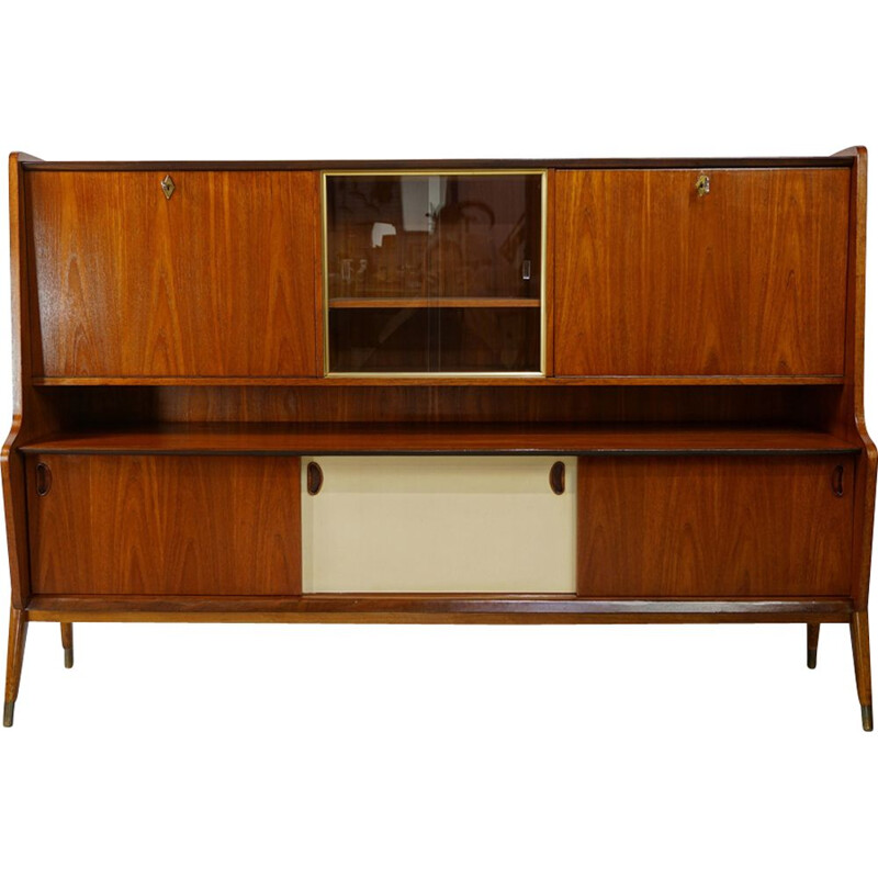 Vintage wooden sideboard by Oswald Vermaercke for V-Form