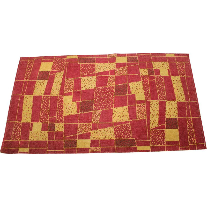 Vintage carpet in red wool