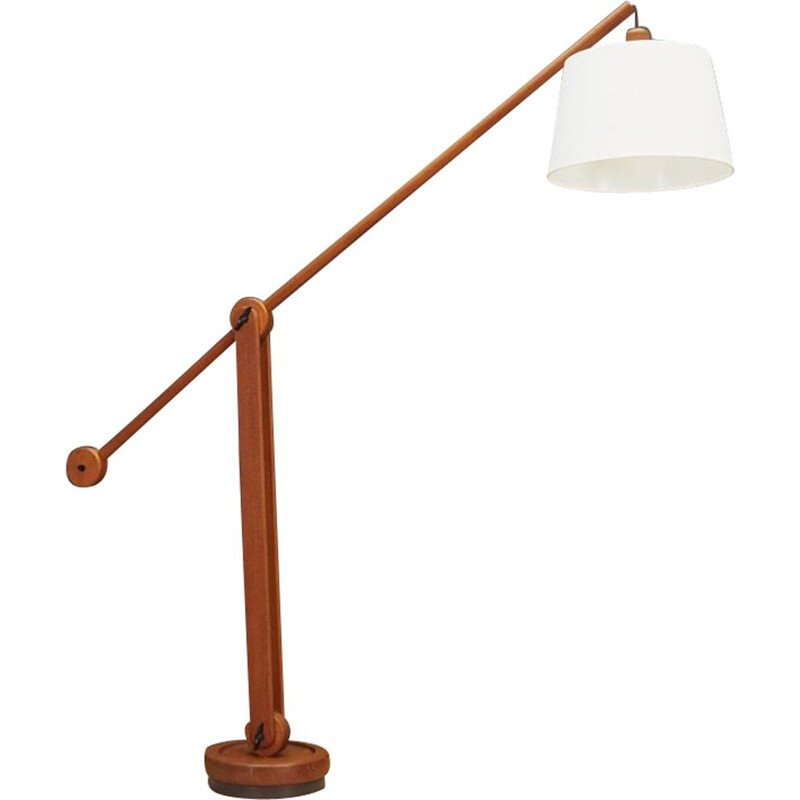 Vintage floor lamp in teakwood 1970s