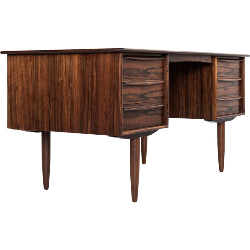 Vintage Danish desk in rosewood