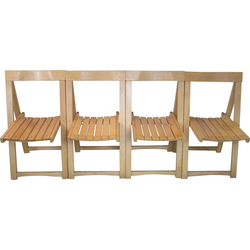 Set of 4 Vintage Chairs by A. Jacober for Alberto Bazzani, Italy, 1960s