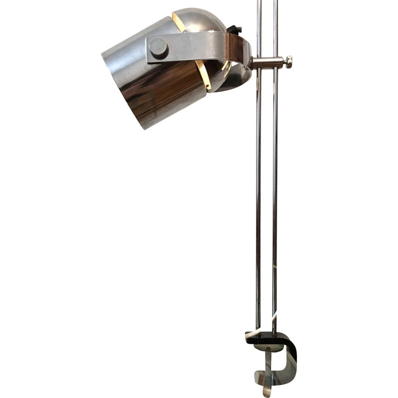Vintage table lamp for Lidokov in grey steel 1960s