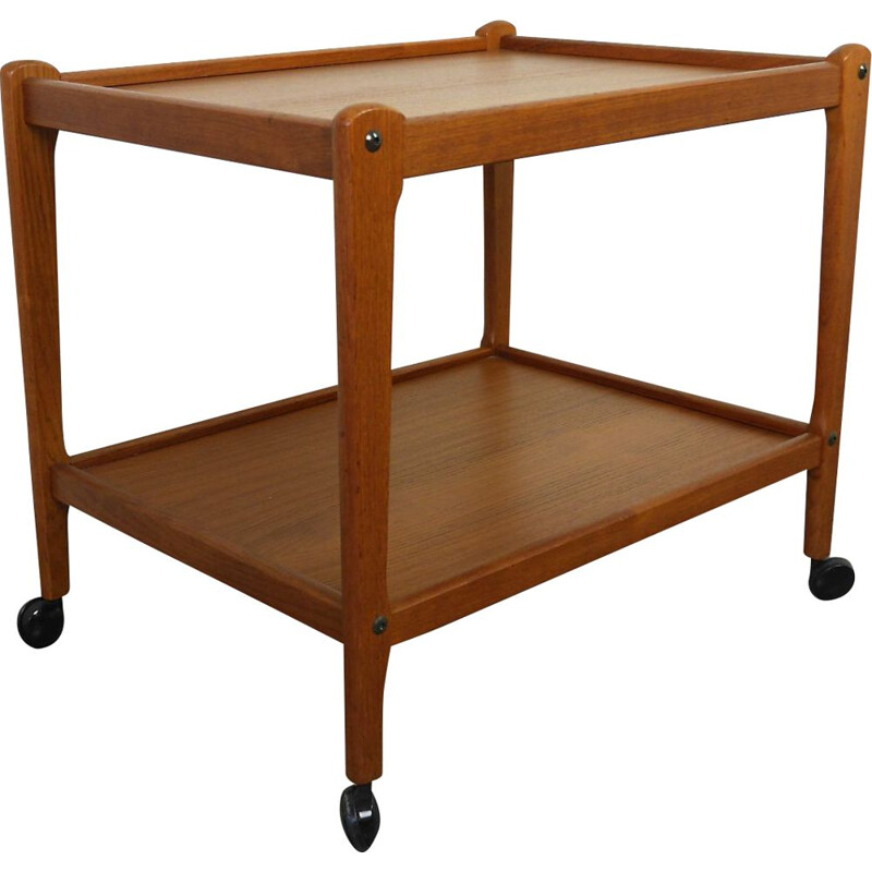 Vintage trolley in teak from BRDR Furbo, Denmark, 1960s