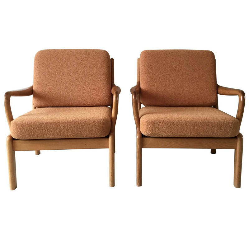 Pair of Scandinavian L Olsen & Son lounge chairs - 1960s