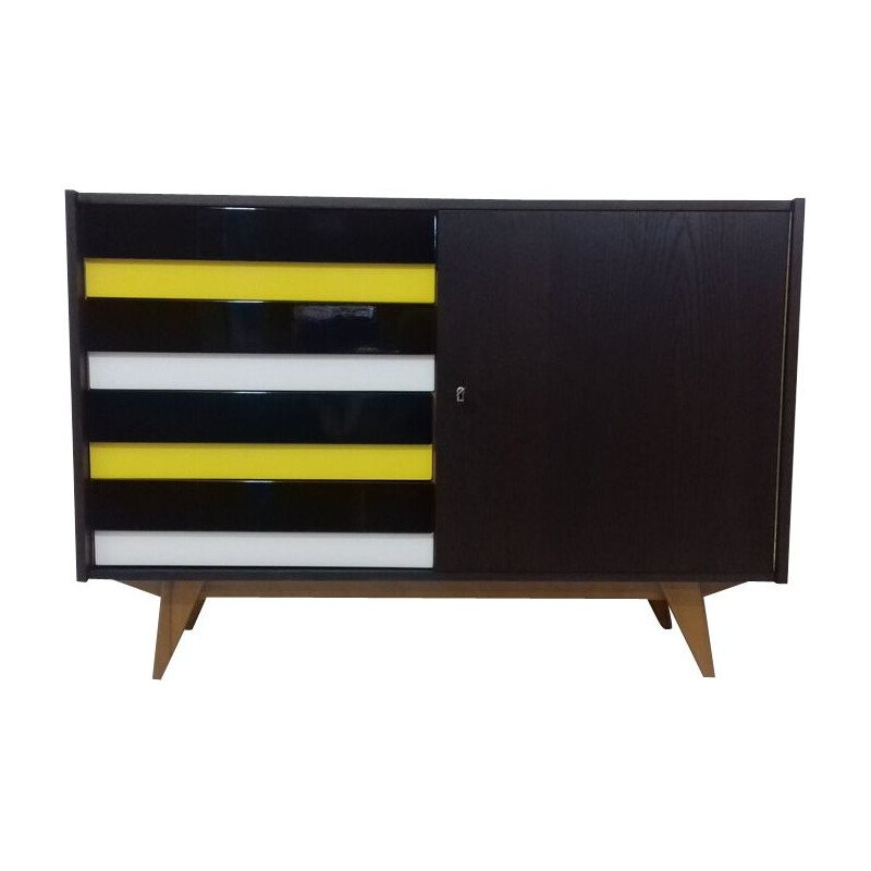 Vintage chest of drawers for Interier Praha in oak and plastic 1960s
