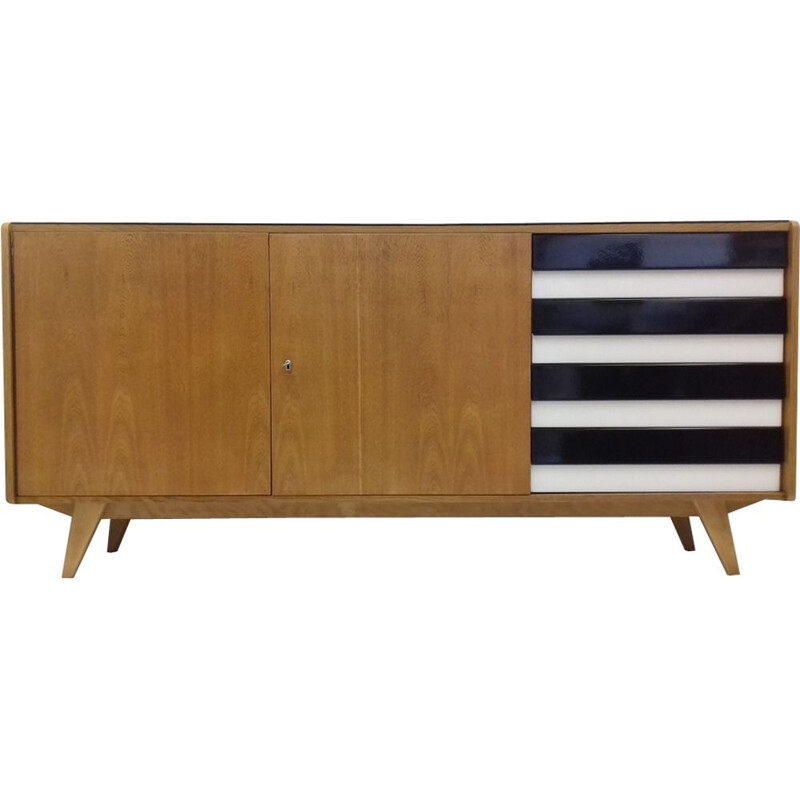 Vintage chest of drawers for Interier Praha in beech and plastic 1960s