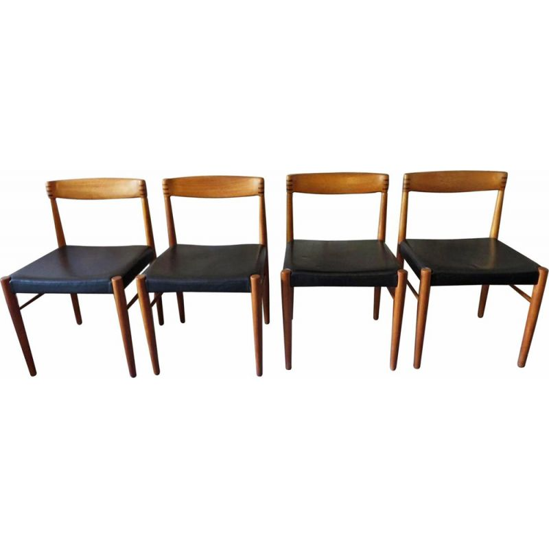 Set of 4 vintage chairs for Bramin in rosewood 1960s
