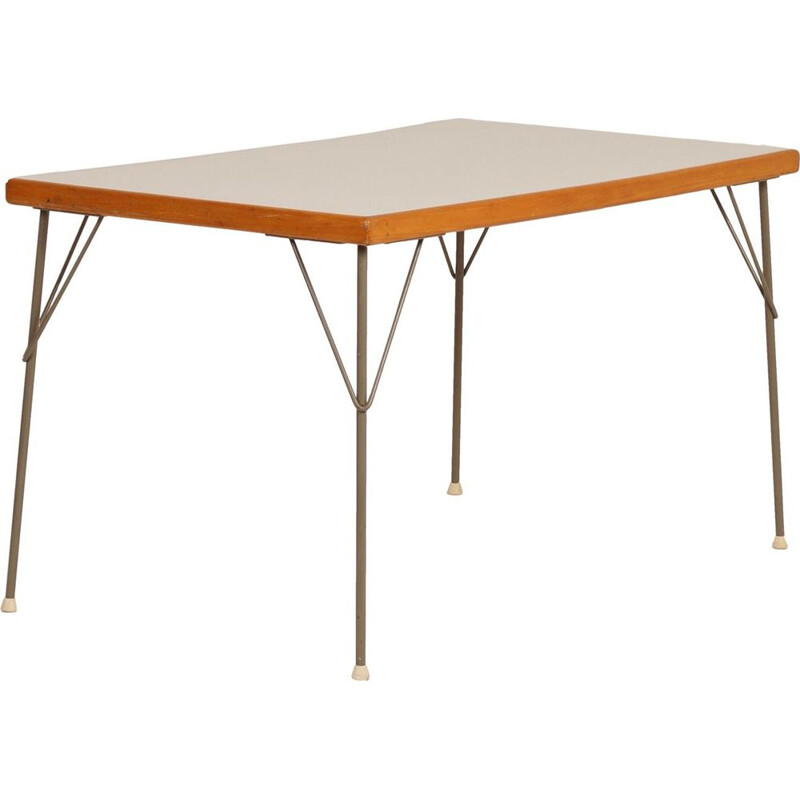 Vintage dining table model 531 by Wim Rietveld and André Cordemeyer for Gispen, 1950s