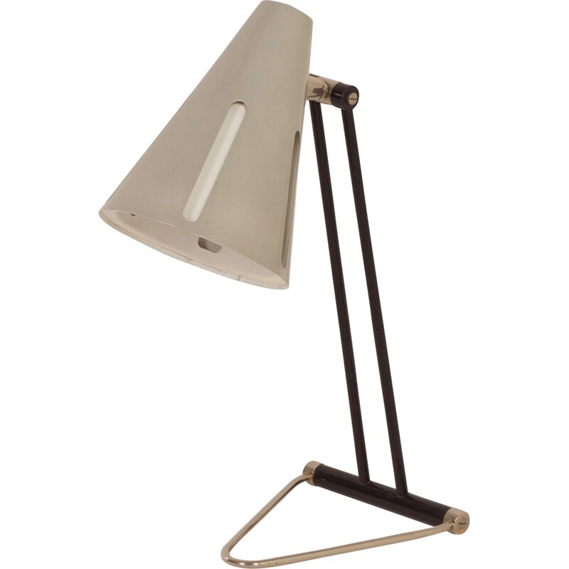 Vintage desk lamp Sun Series Model 1 by H. Busquet for Hala, 1950s