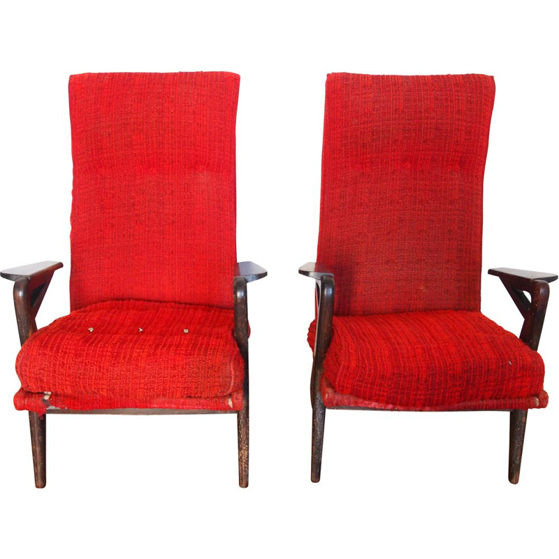 Pair of vintage parker Knoll 1950 armchairs