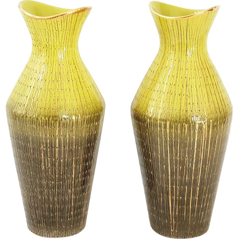 Pair of vintage Italian vases 1950