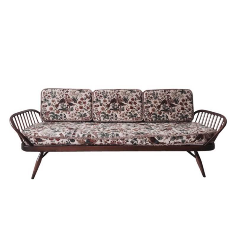 Ercol Daybed In Wood And Fabric Lucian Ercolani 1950s