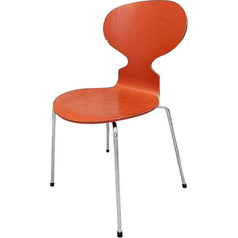 Orange Ant Chair by Arne Jacobsen for Fritz Hansen