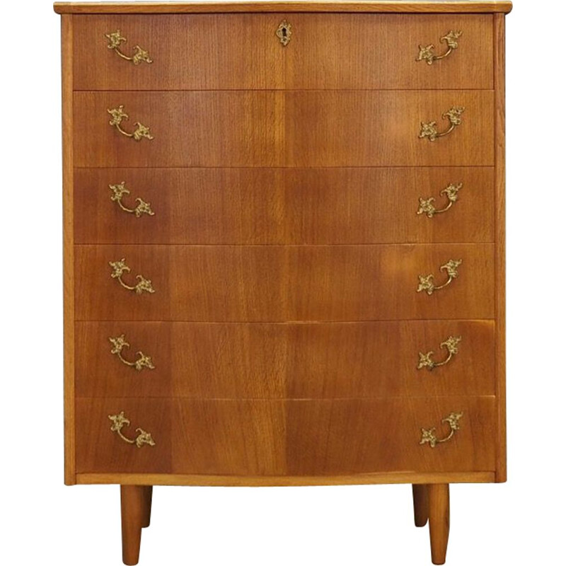 Vintage chest of drawers in teak with 6 drawers, 1960s