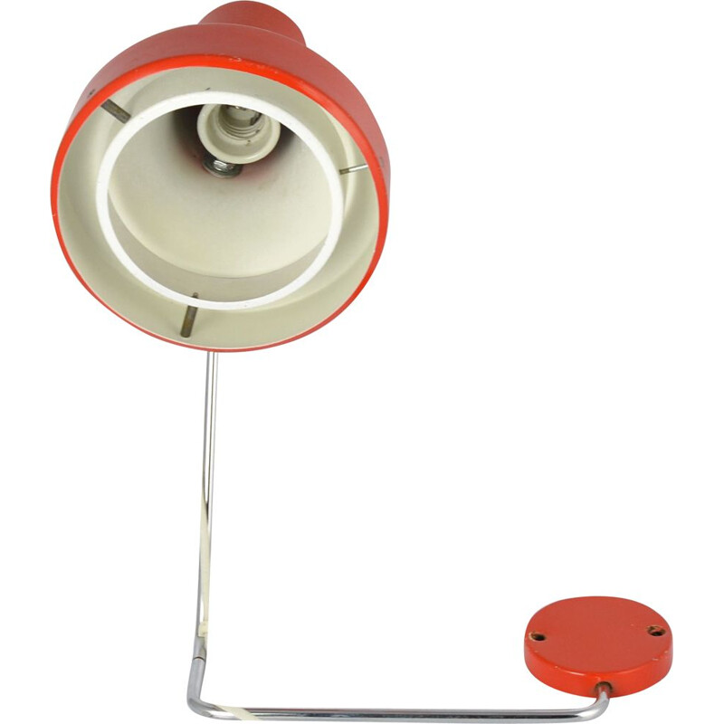 Vintage Red Wall Lamp designed by J. Hurka for Napako, Czechoslovakia ,1970s
