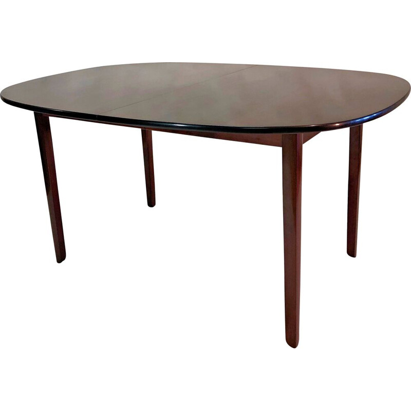 Vintage Dining Table, in Mahogany, Ole Wanscher Refinishedby by P. Jeppesen, 1960s