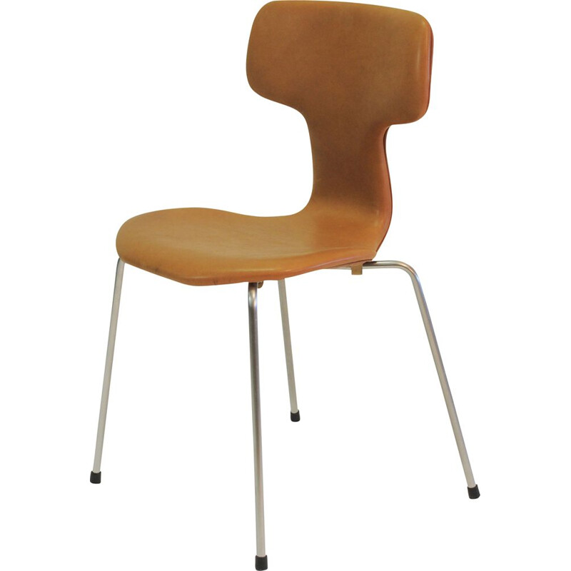 "Set of 8 Vintage Arne Jacobsen ""T Chairs"" or ""Hammer Chairs"" by Fritz Hansen, 1960s"