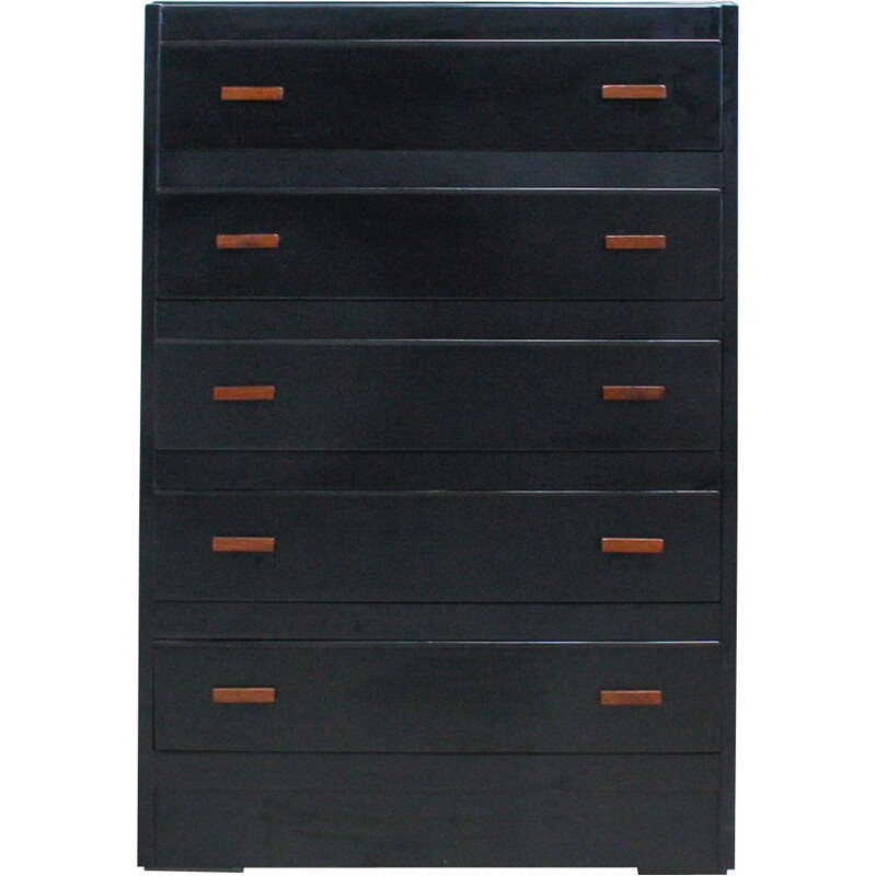 Black English Vintage Chest of Drawers, 1960s