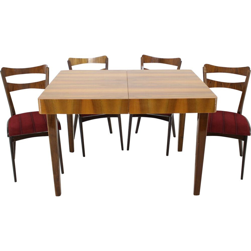 Vintage dining set in walnut 1950s