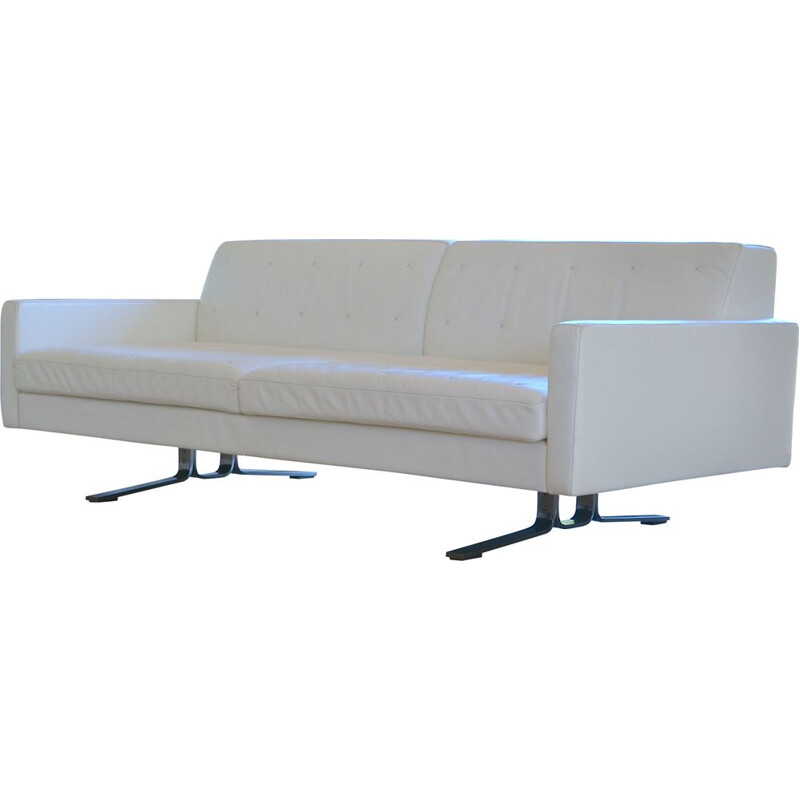 Kennedee vintage sofa for Poltrona Frau in white leather