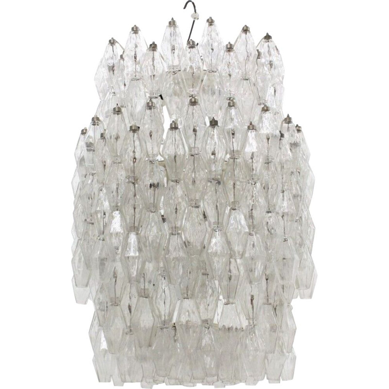 Vintage chandelier for Venini in Murano glass and metal 1960s