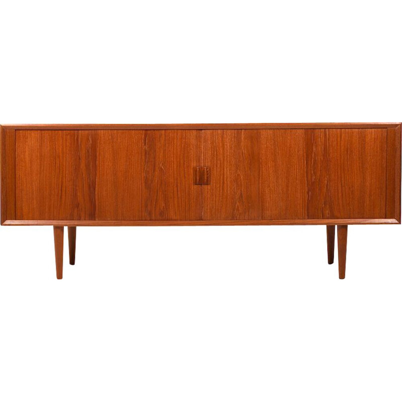 Vintage Jalousie sideboard for Feldballes in teak 1950s