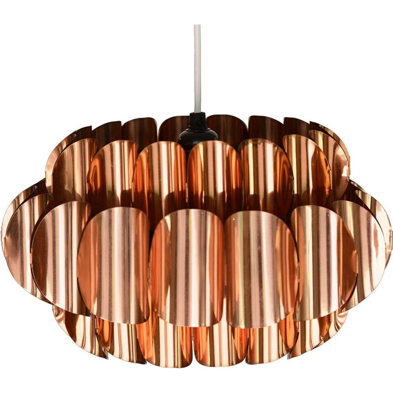 Vintage copper pendant light by Thorsten Orrling for Hans-Agne Jakobsson AB, Markaryd