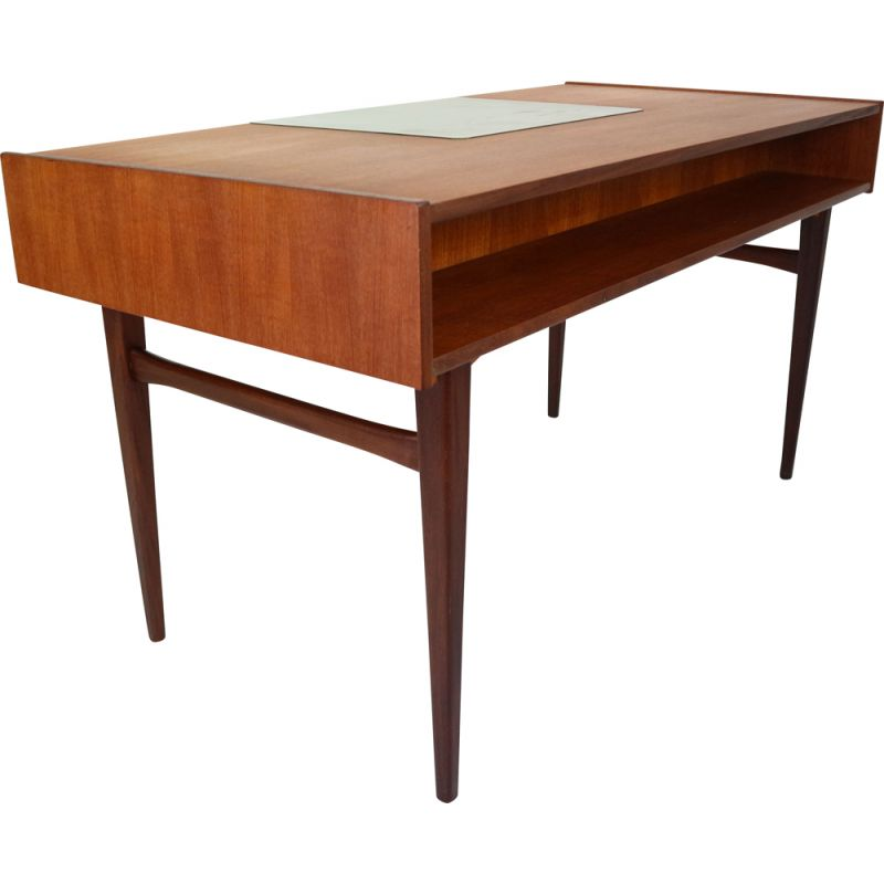 Vintage Danish Desk in Teak with Drawers, 1960s