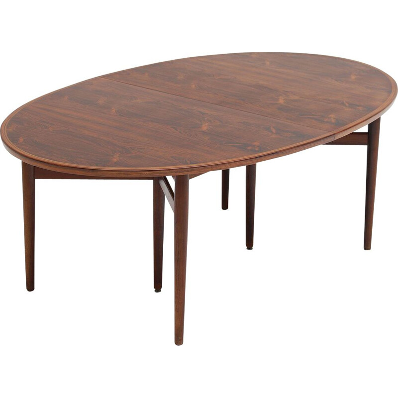 Vintage Dining Table in Rosewood by Danish designer Arne Vodder for Sibast, 1960s