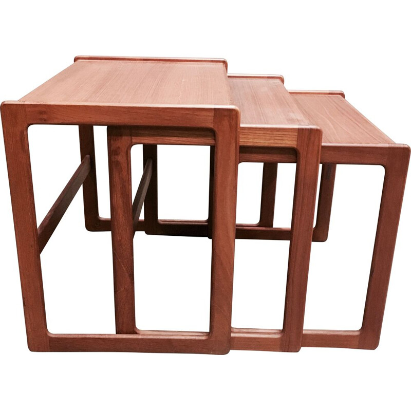 Vintage nesting tables, Scandinavian design in teak, 1950