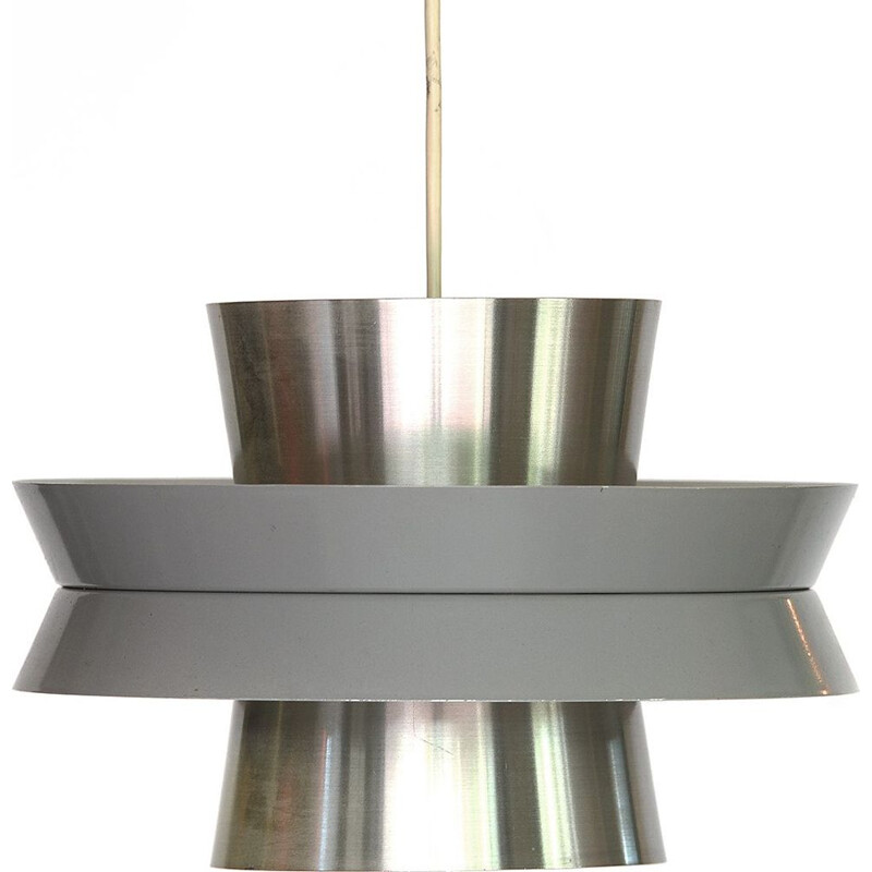 Aluminium vintage pendant light by Carl Thore for Granhaga Metallindustri, Sweden, 1960