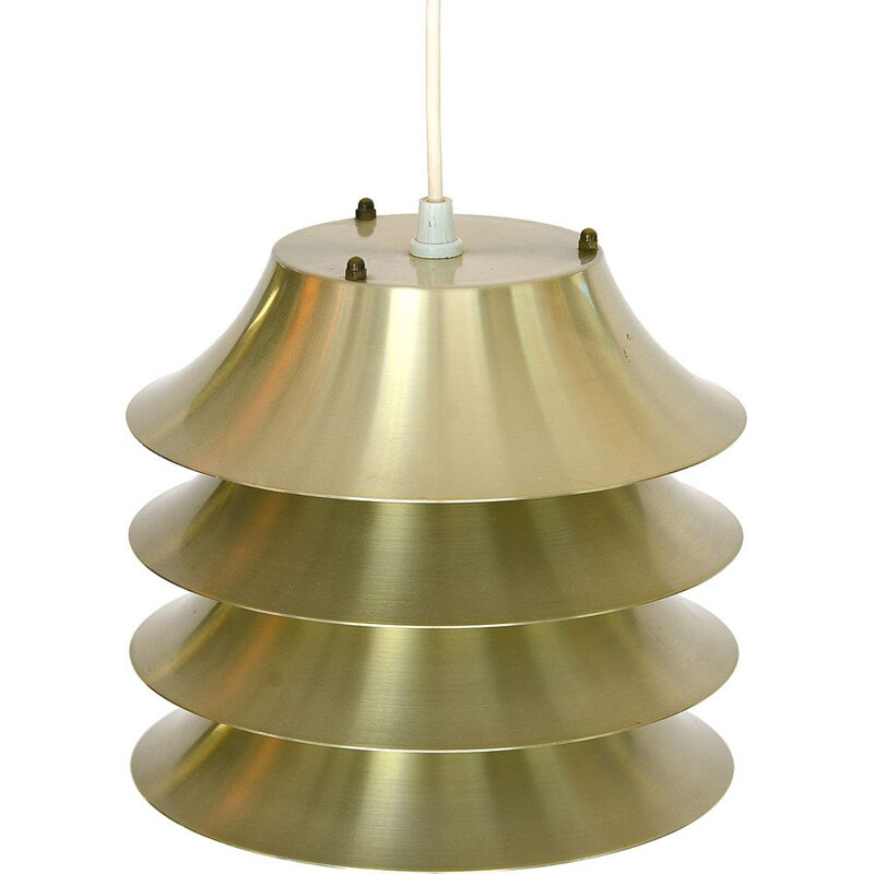 Vintage pendant light Multi layered in aluminium, Denmark, 1960s