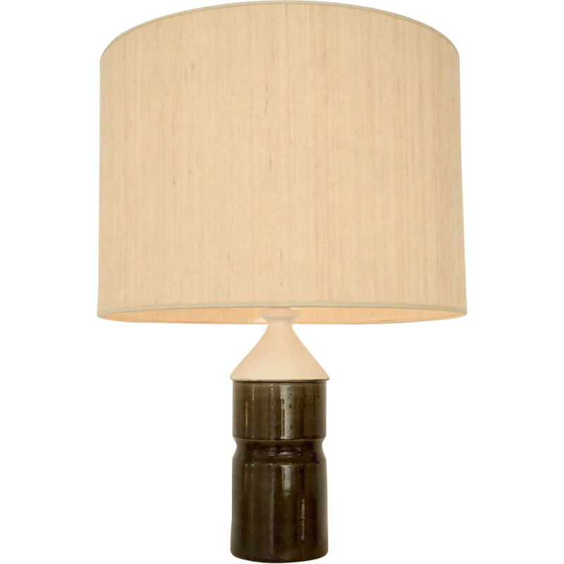 Vintage Table Lamp Bicolor in ceramic, circa 1970, France.