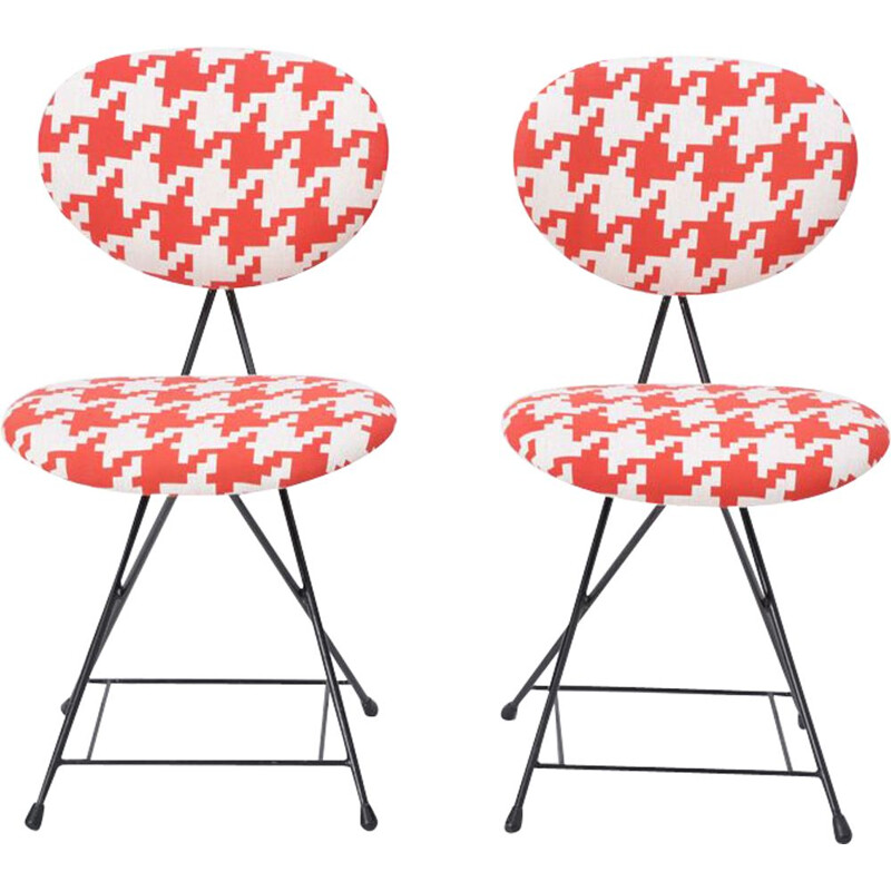 Vintage Pair of Chairs  F & T Model by Rob Parry, Netherlands, 1950s