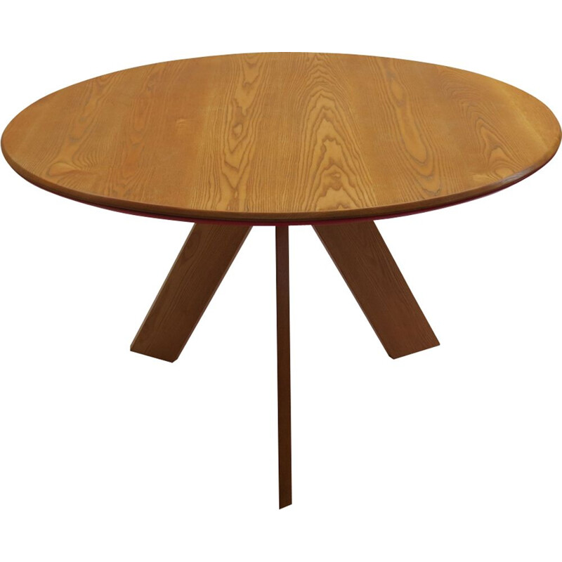 Vintage round table in ashwood by David Field