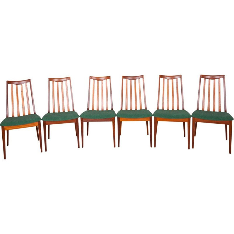 Set of 6 teak chairs by Leslie Dandy for G-Plan