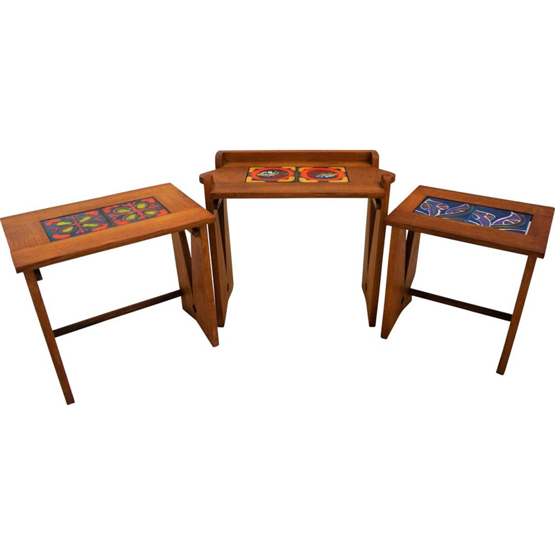Vintage nesting tables by Guillerme and Chambron