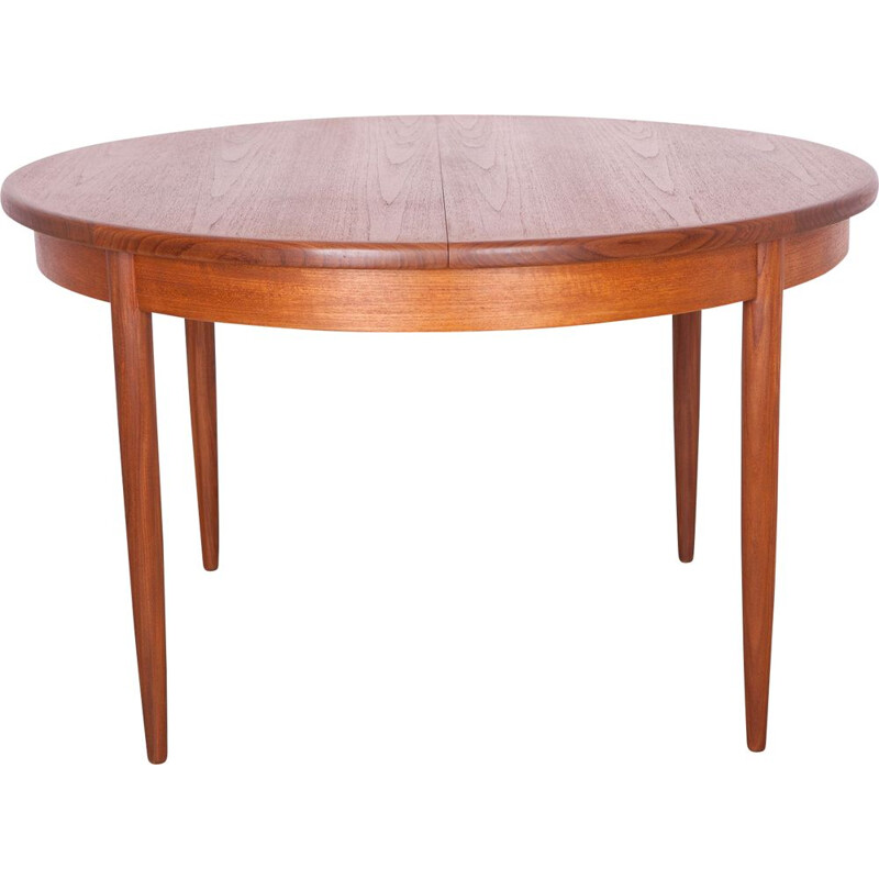 Vintage round dining table in teak by G-Plan