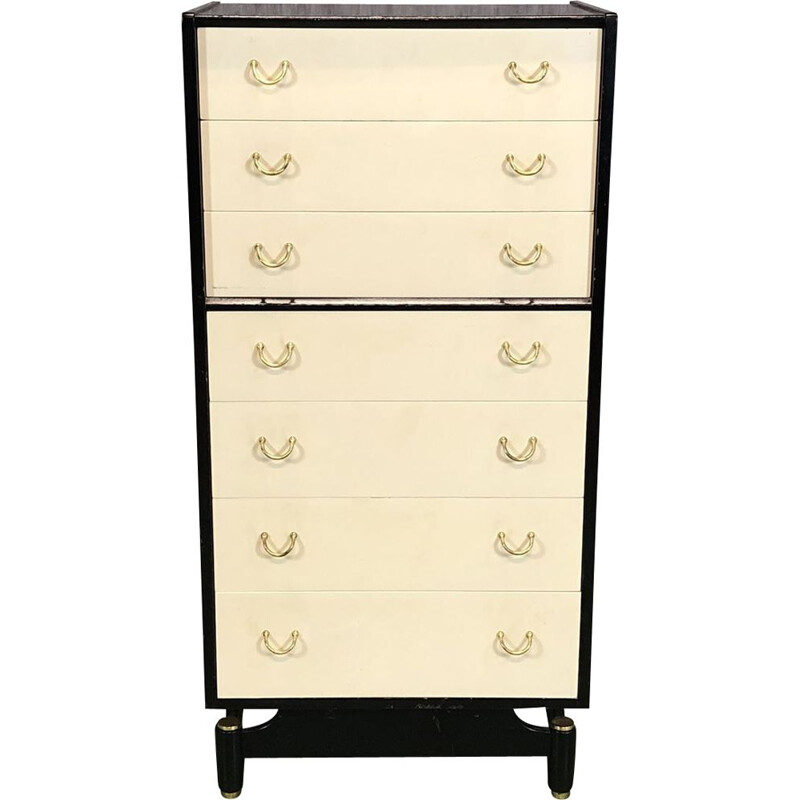 Vintage black and white chest of drawers by G-Plan