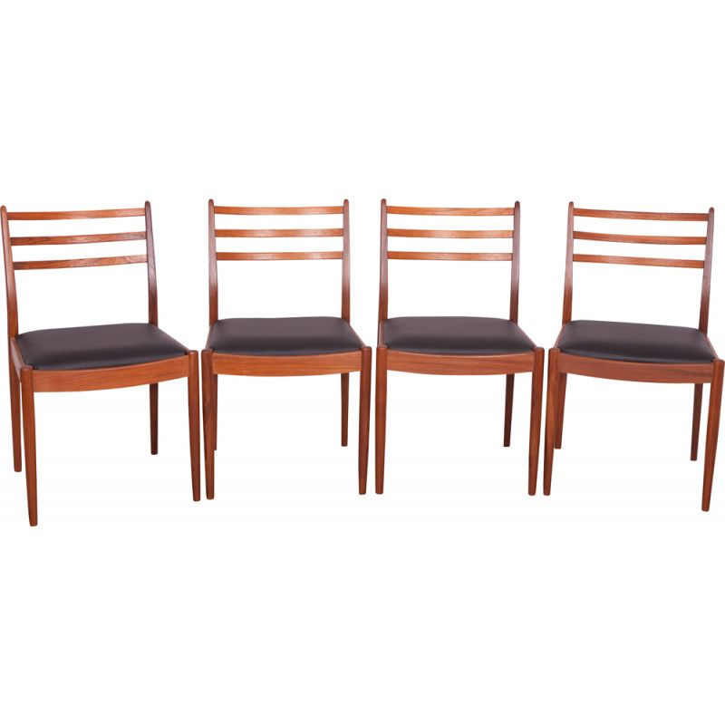 Set of 4 vintage dining chairs in teak by Victor Wilkins for G-Plan, 1960s