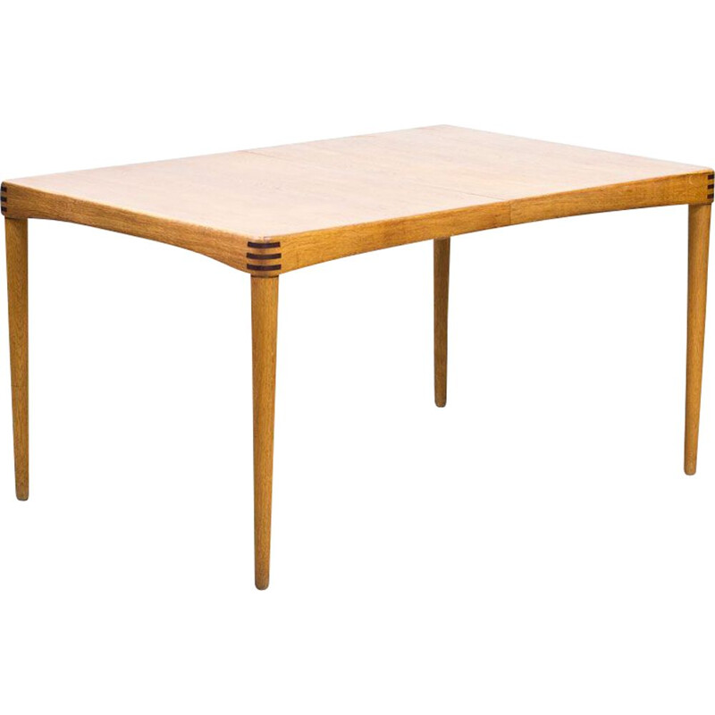 Vintage Dining Table Extendable in Oak by H.W. Klein for Bramin, Denmark, 1960s