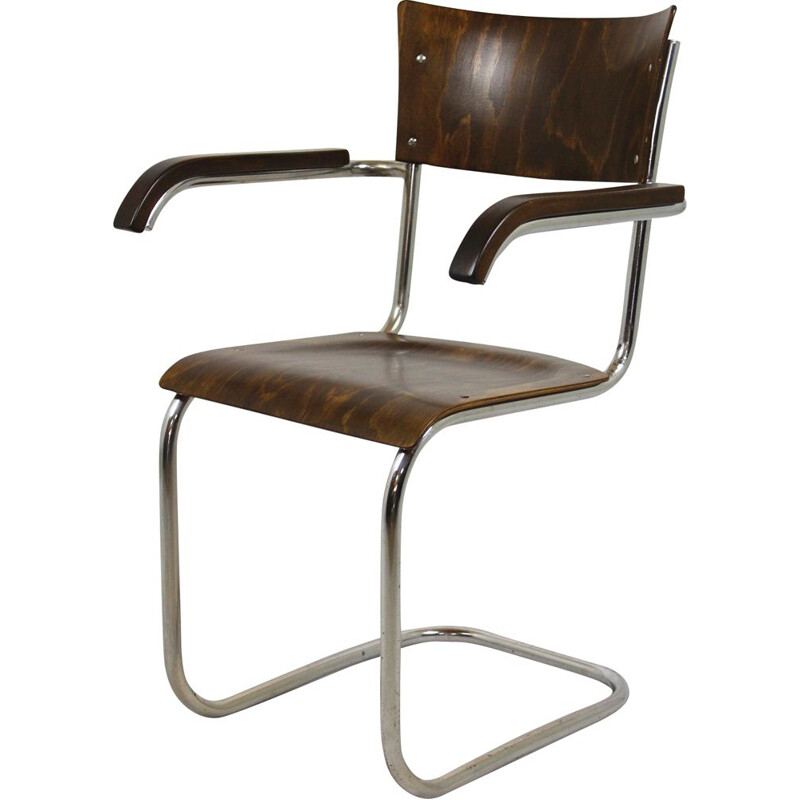 Vintage Fn 6 Cantilever Chair by Mart Stam for Mücke-Melder, 1930s